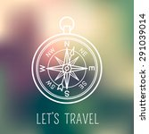 white linear compass. vector... | Shutterstock .eps vector #291039014