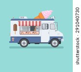 ice cream car  mobile shop | Shutterstock .eps vector #291040730