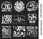 new york city typography... | Shutterstock .eps vector #291043100