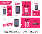 flat product sale mobile banner ... | Shutterstock .eps vector #291045254