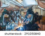 welding robots movement in a... | Shutterstock . vector #291050840