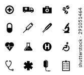vector black medical icon set. | Shutterstock .eps vector #291051464