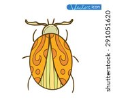 cartoon insect bug icon ... | Shutterstock .eps vector #291051620