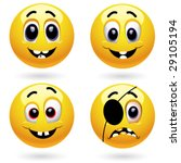 different emotions | Shutterstock .eps vector #29105194