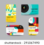 business card template. name... | Shutterstock .eps vector #291067490
