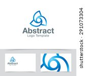 abstract twisted logo template. ...
