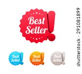 best seller labels | Shutterstock .eps vector #291081899