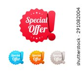 special offer labels | Shutterstock .eps vector #291082004
