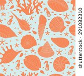 wonderful seamless pattern of... | Shutterstock . vector #291082310