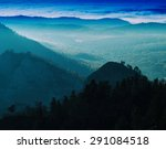 horizontal vivid mountain... | Shutterstock . vector #291084518