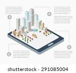 supermarkets  skyscrapers and... | Shutterstock . vector #291085004