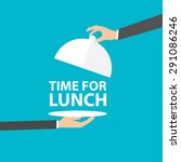 time for lunch  vector | Shutterstock .eps vector #291086246