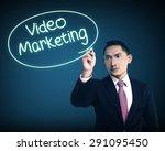 business man writing video... | Shutterstock . vector #291095450