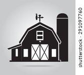 building icon  barn vector... | Shutterstock .eps vector #291097760