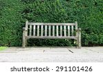 old weathered wooden bench in...   Shutterstock . vector #291101426