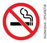 no smoking sign | Shutterstock .eps vector #291106718