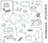 Hand Drawn Sewing Set  Sewing...