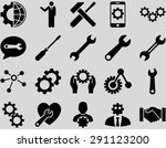 settings and tools icons.... | Shutterstock .eps vector #291123200
