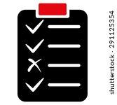 task list icon from commerce... | Shutterstock .eps vector #291125354