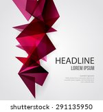vector abstract geometric... | Shutterstock .eps vector #291135950