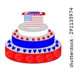 the original cake 4 july eps10 | Shutterstock .eps vector #291135974