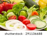 Vegetables On The Salad Plate