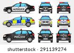 vector police cars   side  ... | Shutterstock .eps vector #291139274