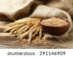 Ears Of Wheat And Bowl Of Whea...