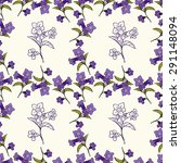 floral seamless pattern with... | Shutterstock .eps vector #291148094