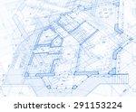 architecture design  blueprint  ...   Shutterstock . vector #291153224