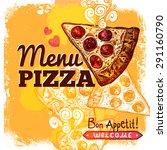 fast food restaurant menu cover ... | Shutterstock .eps vector #291160790