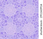 seamless pattern with mandalas... | Shutterstock .eps vector #291163916