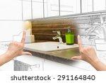 female hands framing custom... | Shutterstock . vector #291164840