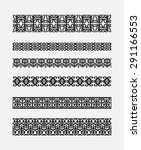 set of patterns for borders...   Shutterstock .eps vector #291166553