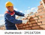 construction worker. mason... | Shutterstock . vector #291167204