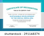 certificate of recognition...   Shutterstock .eps vector #291168374