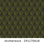 seamless olive green hexagonal...