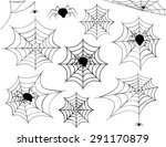 halloween spider web collection ... | Shutterstock .eps vector #291170879