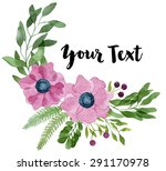watercolor floral composition... | Shutterstock . vector #291170978