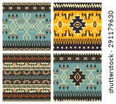 set of hand drawn ethnic... | Shutterstock .eps vector #291179630