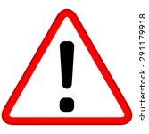 warning symbol | Shutterstock .eps vector #291179918