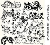 collection of vector decorative ... | Shutterstock .eps vector #291184523
