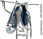 illustration with wet sport... | Shutterstock .eps vector #291184544