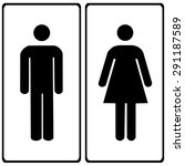 vector a man and a lady toilet... | Shutterstock .eps vector #291187589