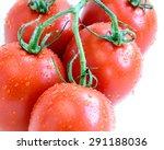 group of fresh ripe roma... | Shutterstock . vector #291188036