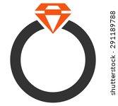 diamond ring icon from commerce ... | Shutterstock .eps vector #291189788