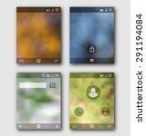 illustration mobile interface...