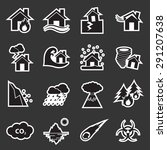 disaster icon   Shutterstock .eps vector #291207638
