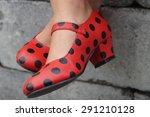 spanish flamenco red teenager... | Shutterstock . vector #291210128