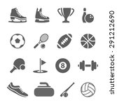 fitness and sport icons for web ... | Shutterstock . vector #291212690